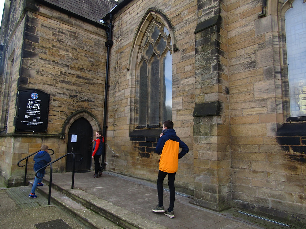 Entrance to St Peters Church In Sunderland