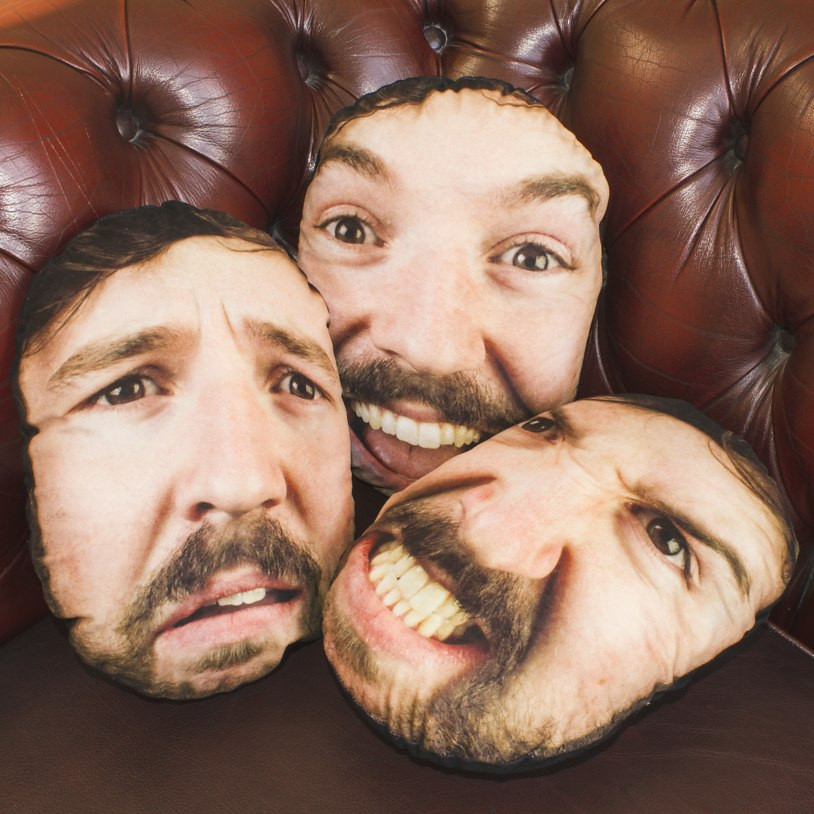 Get your face onto a cushion and give it to your spouse as a gift.