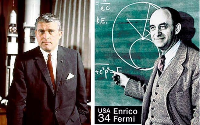 Wernher von Braun y Enrico Fermi