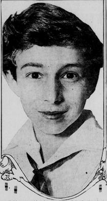 Fotografía de George Hodel cuando niño