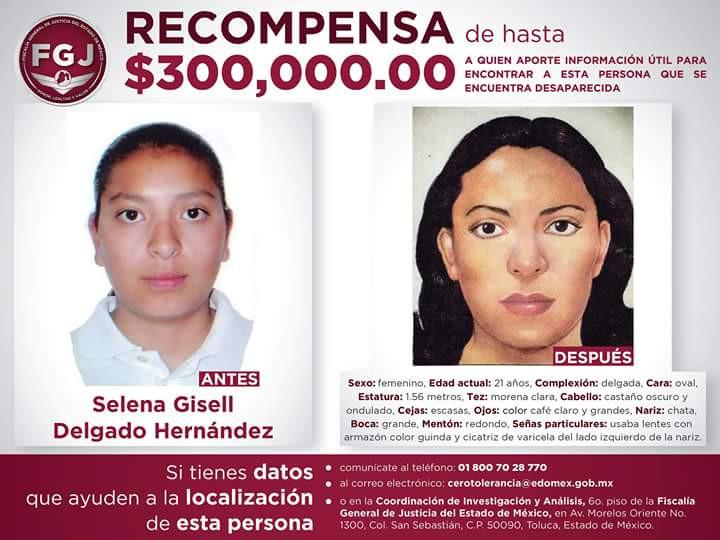 Recompensa por Selene Delgado