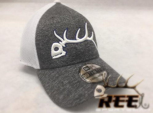 New 39 thirty fitted cap White/heather grey