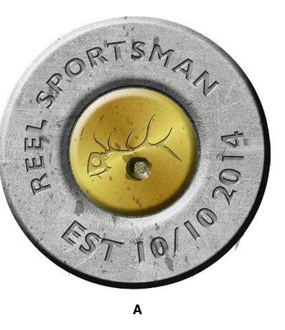 Reel Sportsman Fuel door Silver Decal