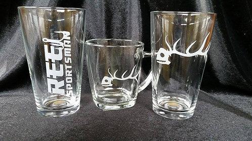 Reel Sportsman Glassware
