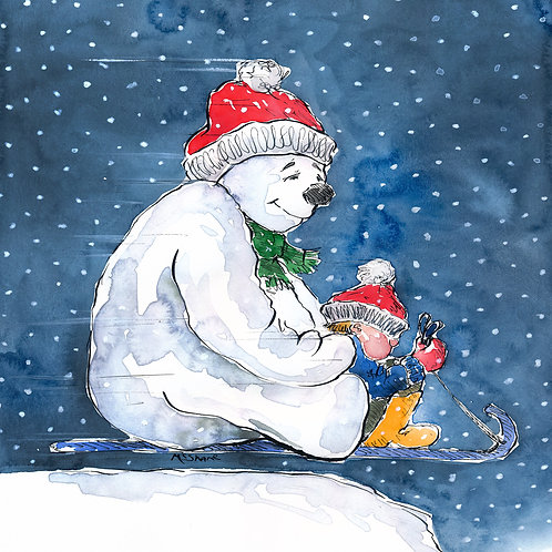 Snowman & the sledge (No90)