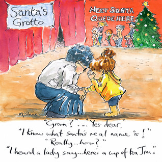 93-Nana. /94-Gran. /95-Nan. Santa's name.