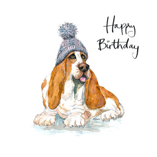 No8 Bobble Basset Birthday