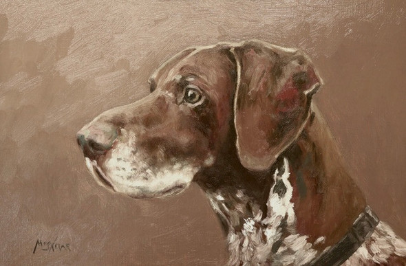 "German Pointer  - Oil Painting 9"" x 12"""