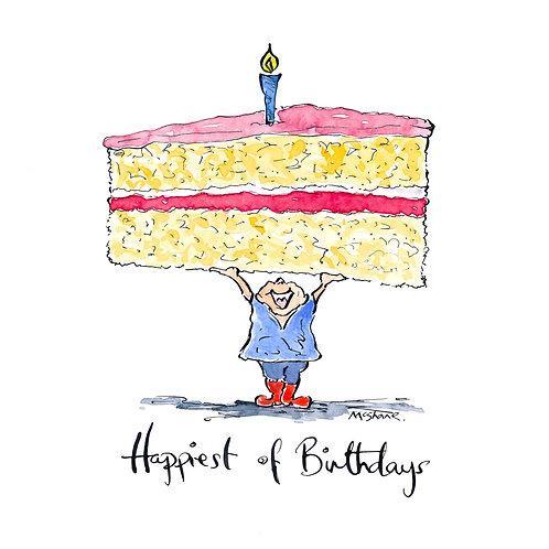Happiest Birthday Cake Up.