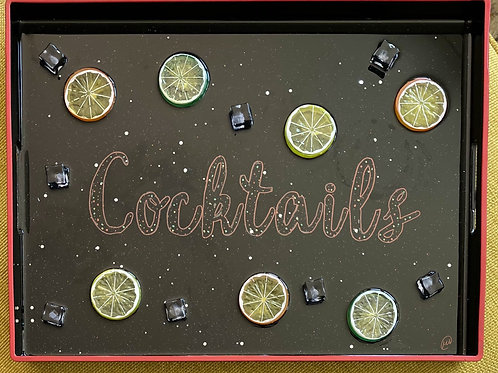 Cocktail Tray/ custom order - please allow weeks