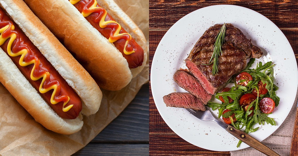 Steak and hot dogs are both meat, but can't be lumped together to determine cancer risk.