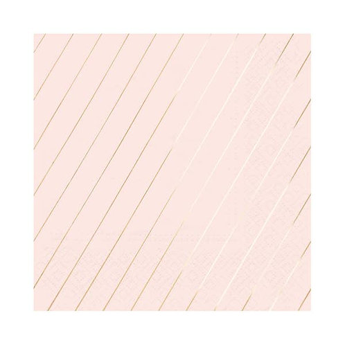 Stripes Luncheon Napkins  - Blush & Rose Gold