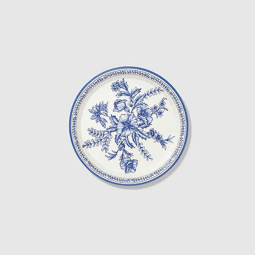 French Toile Small Paper Party Plates