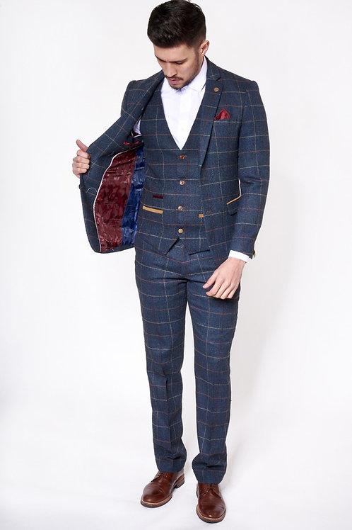 Navy Tweed Waistcoat Eton