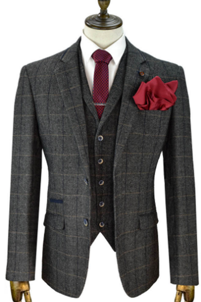 Grey Albert Tweed Suit