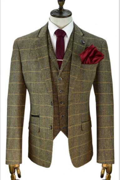 Brown Albert Tweed Suit
