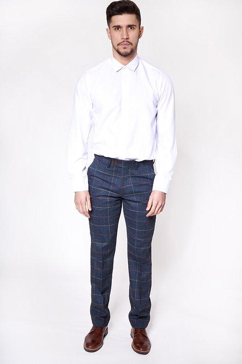 Navy Tweed Trousers Eton