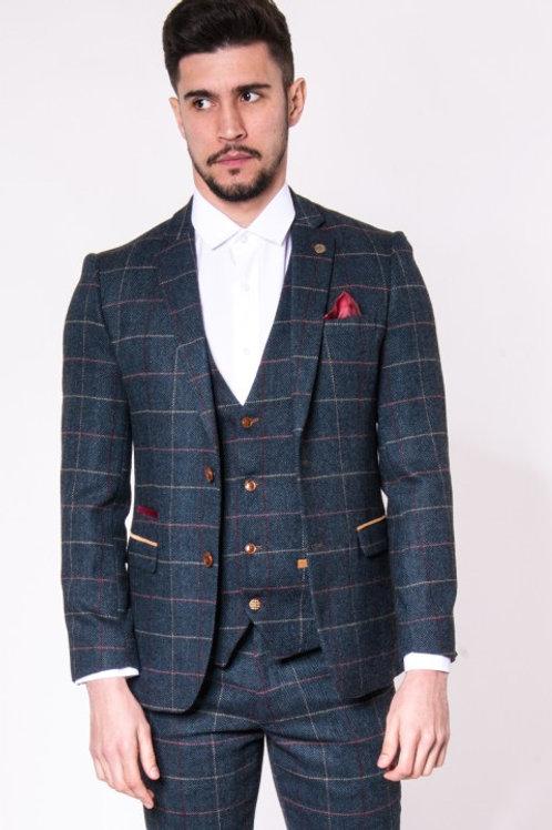 Navy Tweed Blazer Eton