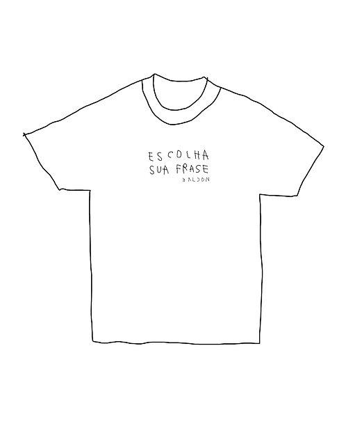 camiseta bordada frases baldon