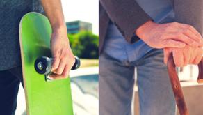 A la retraite, serez-vous un adepte de la canne ou du skateboard ?
