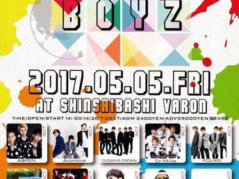 """2017年5月5日(金/祝) CLOWN'S CROWN """"#BUZZ BOYZ"""" 出演決定 !"""