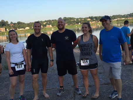 RJ Fisher Participates in Catfish Triathlon