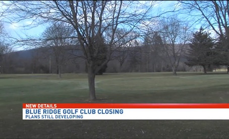 CBS News21 Article - Blue Ridge Country Club Closing, land to be redeveloped