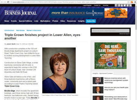 CPBJ - Triple Crown finishes project in Lower Allen, eyes another