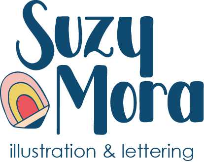 Suzy Mora Illustration and lettering logo