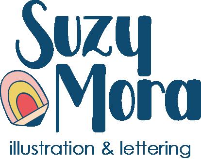 Suzy Mora Illustration and lettering logo