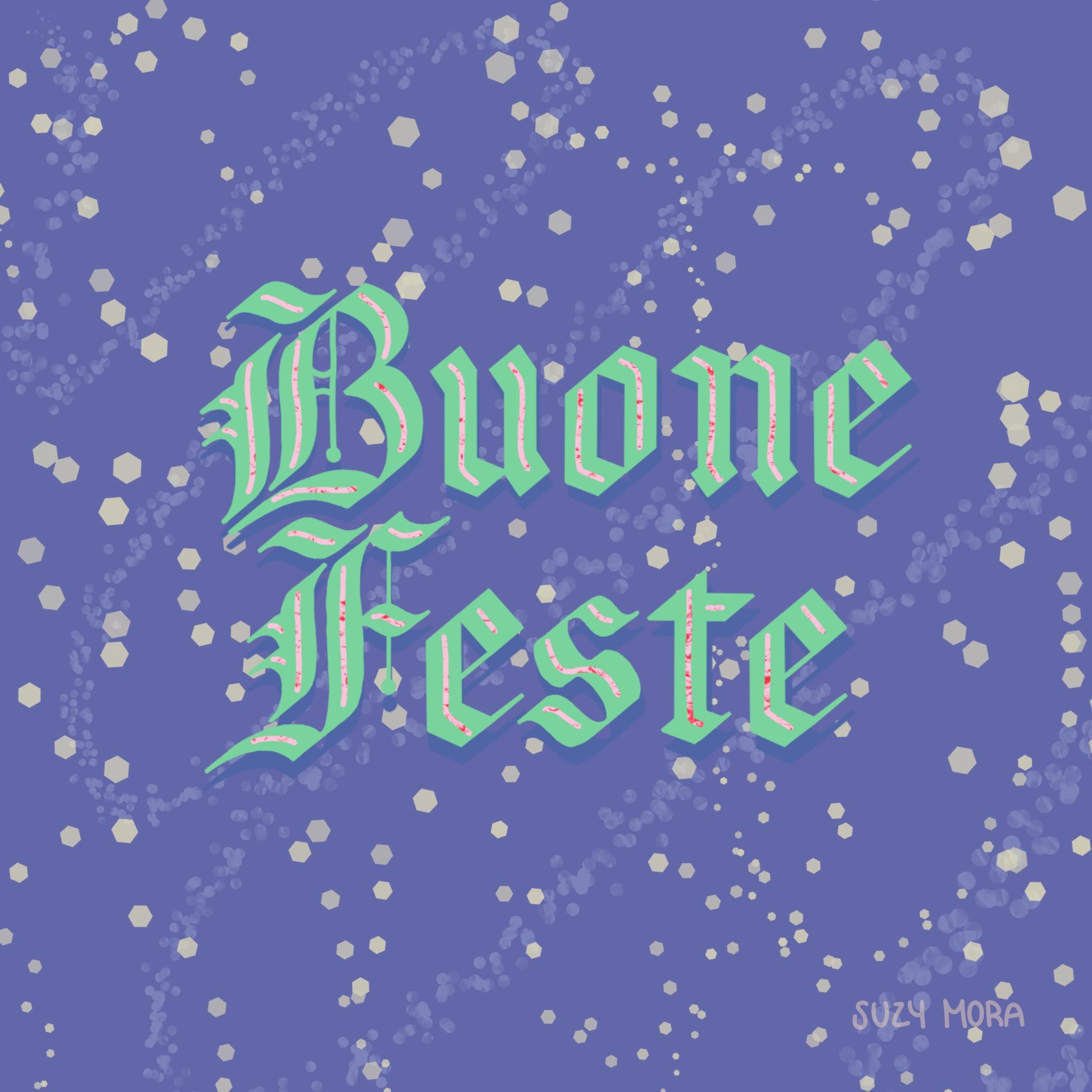 Buone Feste social media post