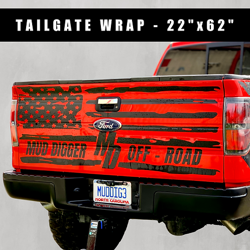 Distressed Flag Tailgate Wrap