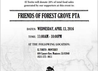 Dine Out at El Torito - April 13th, Wednesday