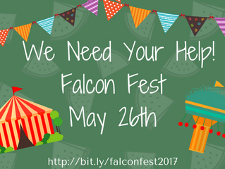 We Need Your Help for Falcon Fest!