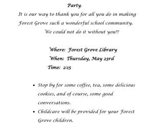 Honoring Forest Grove Volunteers