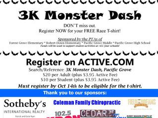 Register for the 3K Monster Dash - Now!