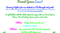 Forest Grove Luau February 7th 6-7:30pm