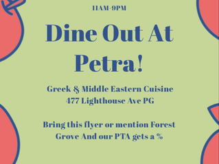 Dine Out at Petra September 11th!