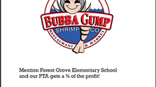 Dine out at Bubba Gump's Restaurant January 16, 2020