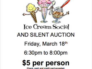 Ice Cream Social and Silent Auction