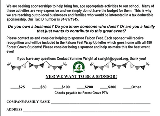 FALCON FEST SPONSORSHIPS