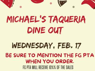 Michael's Grill & Taqueria DINE OUT!!