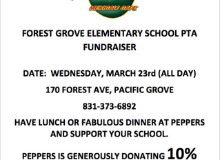 Dine Out at Peppers - March 23rd