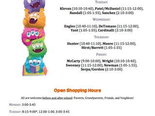 Book Fair Shopping Hours