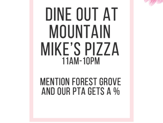 Mountain Mike's Dine Out August 15, 2019