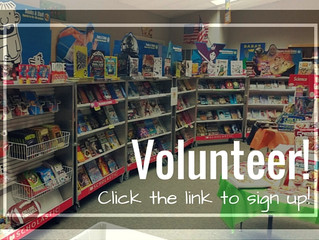 Volunteer for the Book Fair - Today!