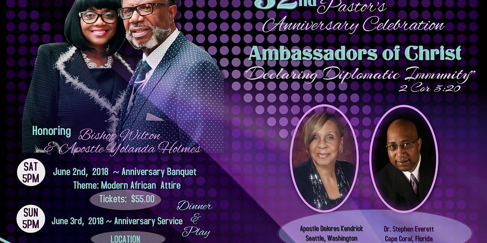 32nd Pastor's Anniversary Dinner