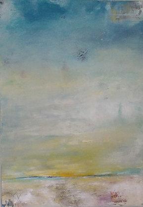 Peinture abstraite mer gros plan