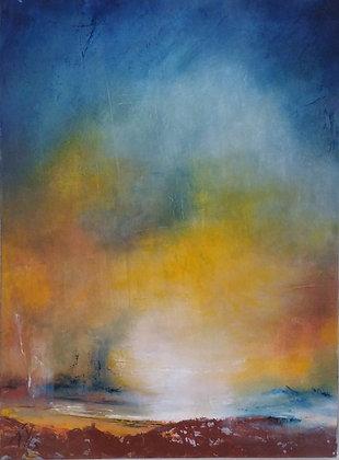 peinture abstraite Lueur gros plan