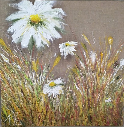 Peinture abstraite fleur Gaité gros plan